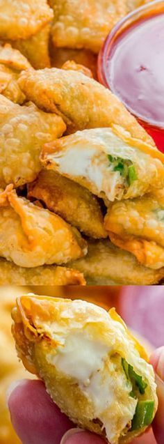 This Crab Rangoon recipe from Holly at Spend with Pennies makes the perfect appetizer for your next party! The recipe is simple and contains a mixture of crab, cream cheese, and seasonings that get wrapped up in a wonton wrapper and fried until crispy.