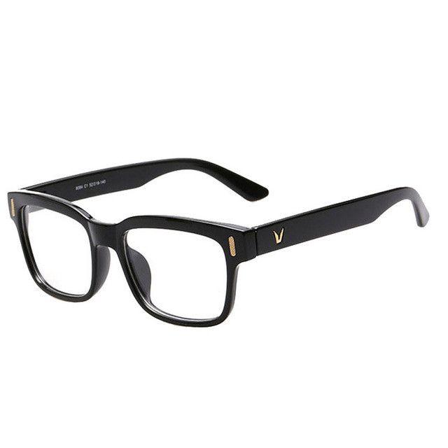 high grade v shaped box eyeglasses frame brand for women fashion men optical eye - Name Brand Eyeglass Frames