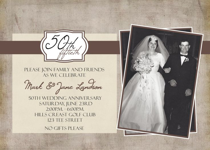 50th Wedding Anniversary Invitation Ideas: 31 Curated Fabulous 50th Wedding Celebration Ideas By