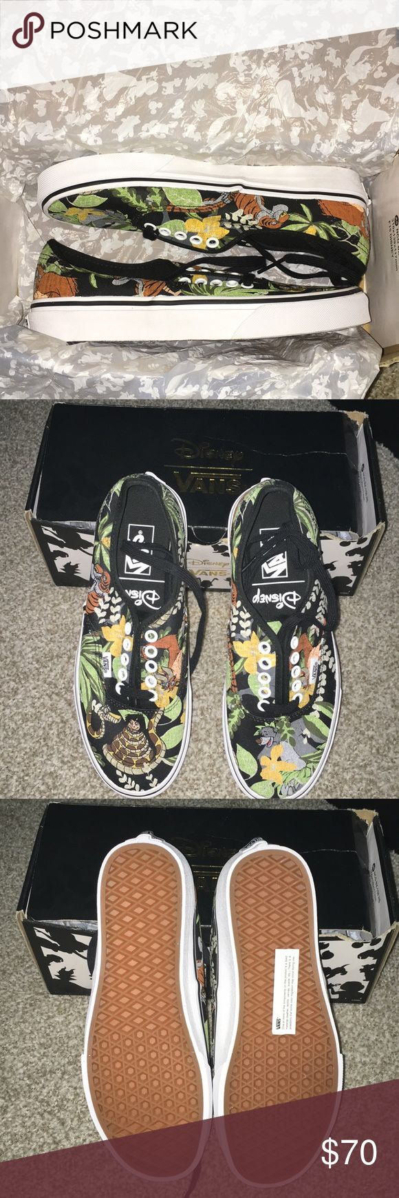 Vans Disney Collection the jungle book In new condition. Size is 6.5 Mens / 8 women's. Please note that box will  be included but it is a little beat up. Any questions please ask. I am open for offers! Vans Shoes Ankle Boots & Booties