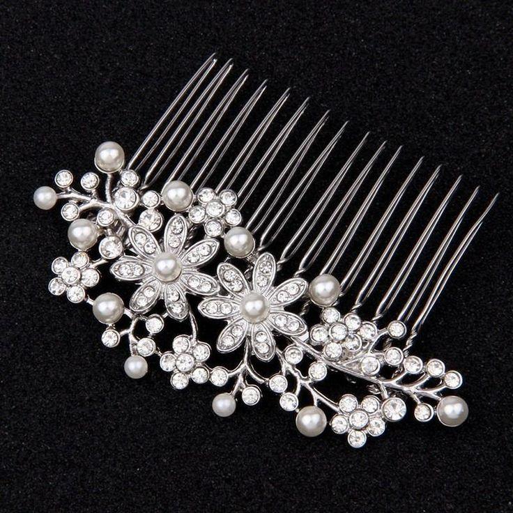Vintage Bridal Hair Combs Flower Wedding Headpiece