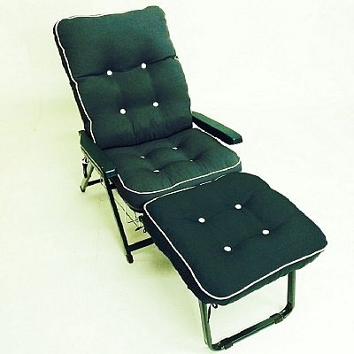 Tivoli Super Deluxe folding reclining lounger with pullout foot rest by Scab
