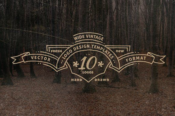 Wide Vintage Logo Templates by lups design on @creativemarket