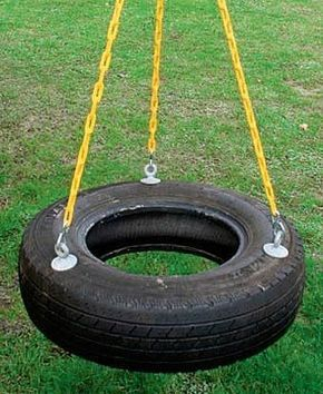 How to Make a Fun Tire Swing for our yard.