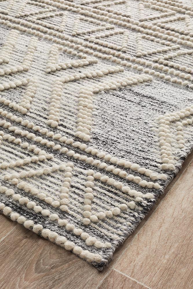 Albany Wool Silver Rug Natural Wool Rugs Flat Weave Rug Natural Rug