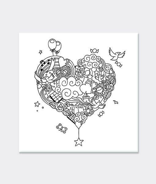 Kalp Desen Boyama Mandala Mandala Mandala Heart Ve Cards