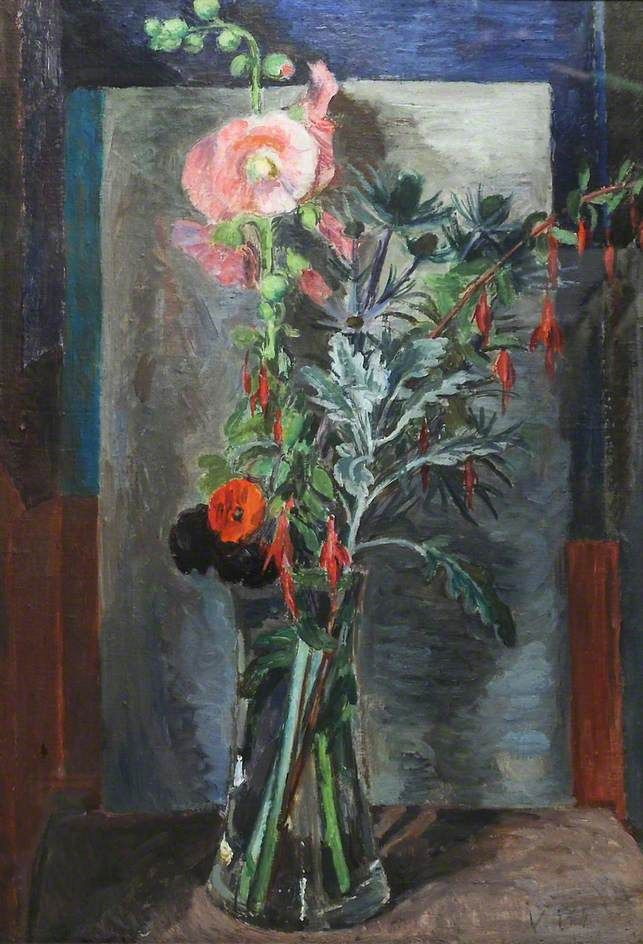 Vanessa Bell - Flowers in a Glass Vase, c.1930, Oil on canvas, 75 x 50.2 cm…