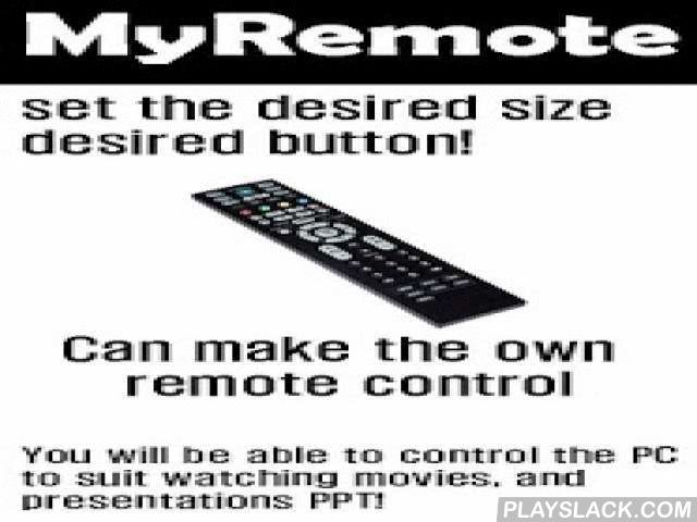 [Remote] MyRemote Lite  Android App - playslack.com ,  It is an app that can manipulate the PC remotely smart Pong Epstein.Watch movies on MyRemote, you can use the convenient when you want to announce PPT.Please take the executable file for the PC to the PC you are trying to remote control from http://myremote.zz.am.How to use, please refer to the following…