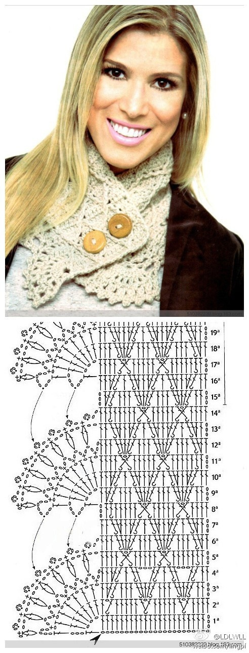 crochet collar - this one is really original!