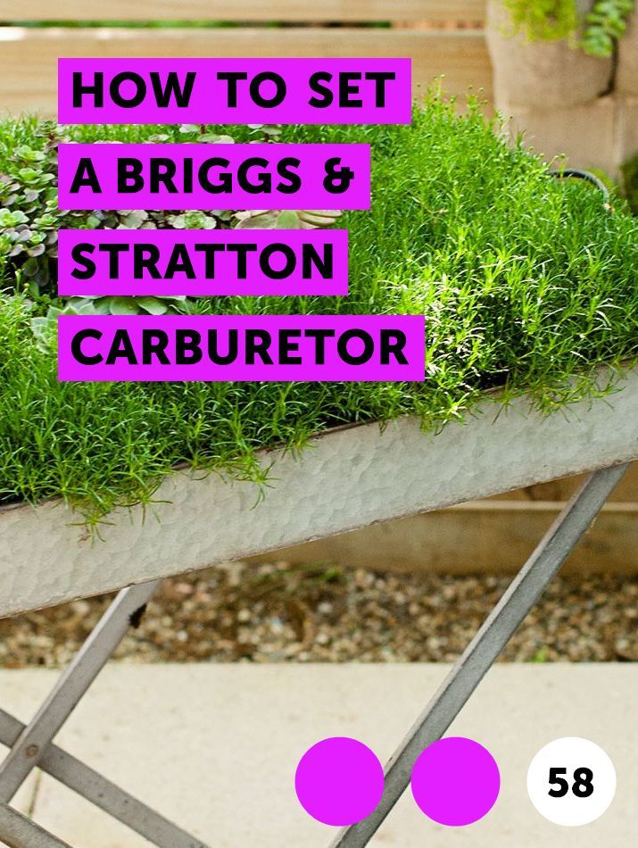 How to Set a Briggs & Stratton Carburetor | Lawn Mowers
