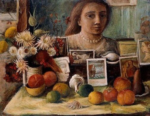 Margaret Olley 1948, Portrait in the mirror.