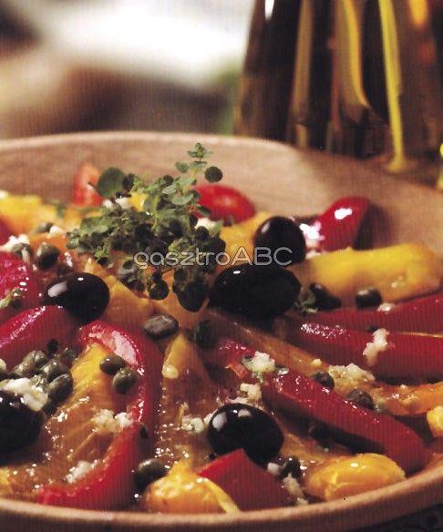 Spanyol sültpaprika-saláta | Receptek
