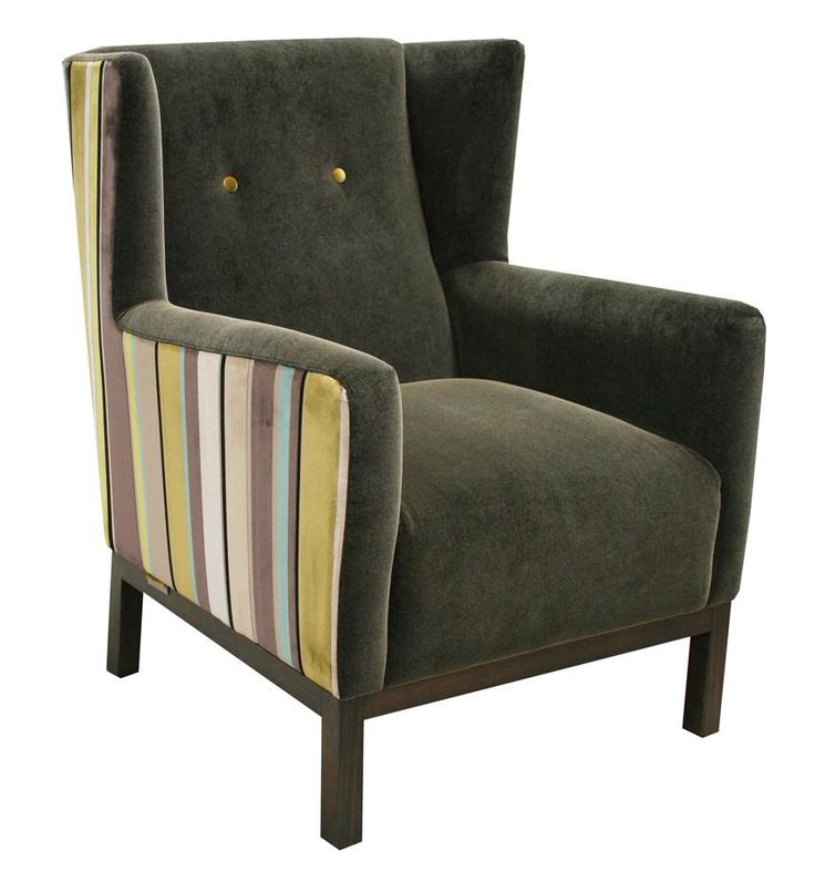 Winni Occasional Wingback Chair in Combination Dual Fabric