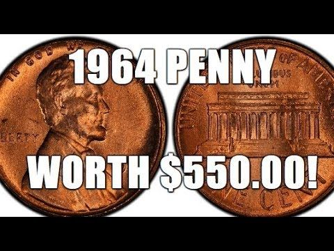 1964 Penny Worth $550.00!!! Rare & Valuable Lincol…