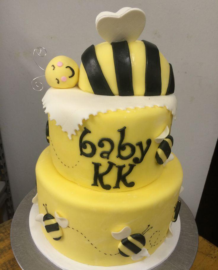 bumble bee baby shower cake birthday shower pinterest. Black Bedroom Furniture Sets. Home Design Ideas