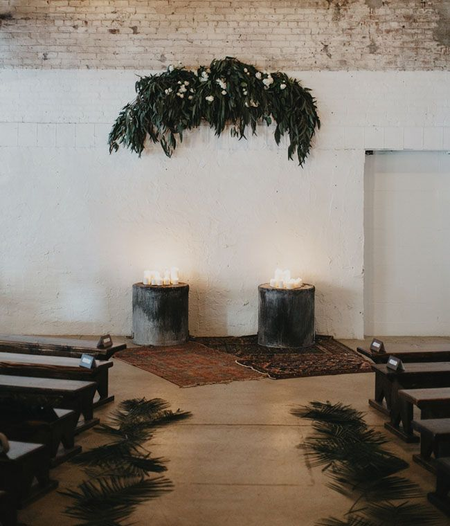 Vintage rugs for the ceremony site