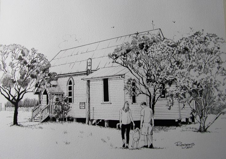 A drawing I recently completed of the St Matthews Church of England at Howard, Queensland, Australia.