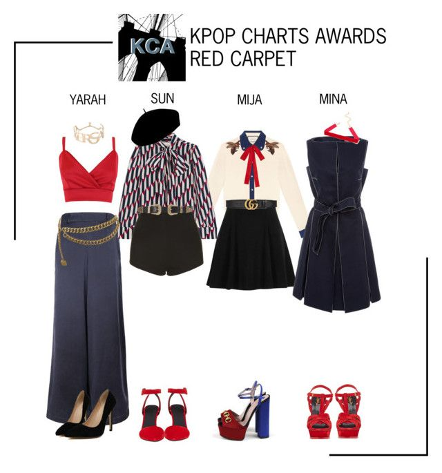 """ARIA (아리아) K-Pop Charts Awards 2017 Red Carpet"" by ariaofficial ❤ liked on Polyvore featuring Gucci, River Island, The Bee's Sneeze, Betmar, Chanel, Versace, Topshop, B-Low the Belt, Paule Ka and Alexander Wang"