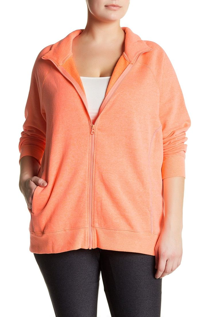 Double Diamond Fleece Jacket (Plus Size)