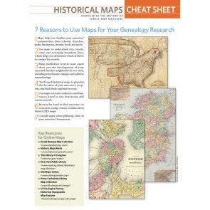 Historical Maps Cheat Sheet