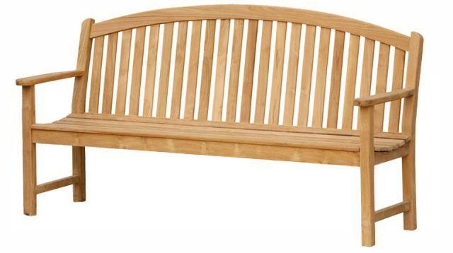 Bow Teak Garden Bench Mebel Kayu Jati Furniture