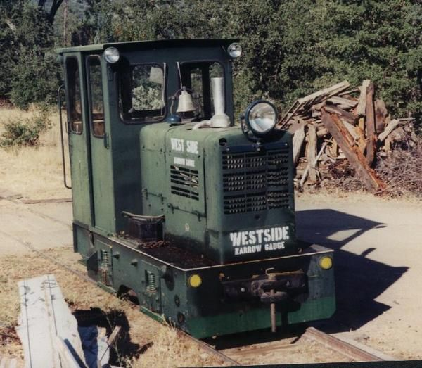 This is the last locomotive to unofficially run on the Westside Lumber Co. tracks. Owned by Brad Milne who unsuccessfully tried to restore the railway of California's last steam logging operation. For more information on the Westside go to the website at www.wsrestoration.com.