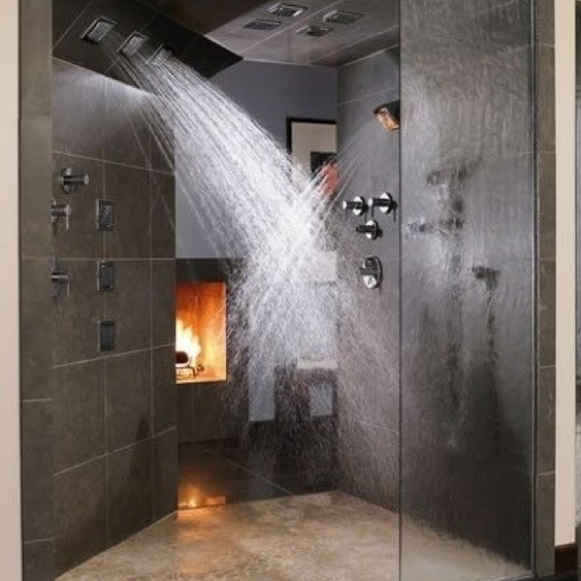 Loveee Big Showers Dream Home Pinterest Shower Heads