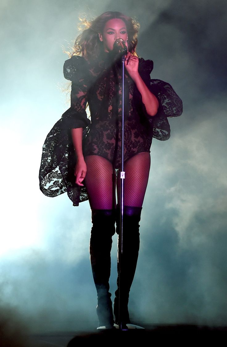 See 15 Times Beyonce Rocked the Bodysuit on Stage - Lantern Sleeves  - from InStyle.com