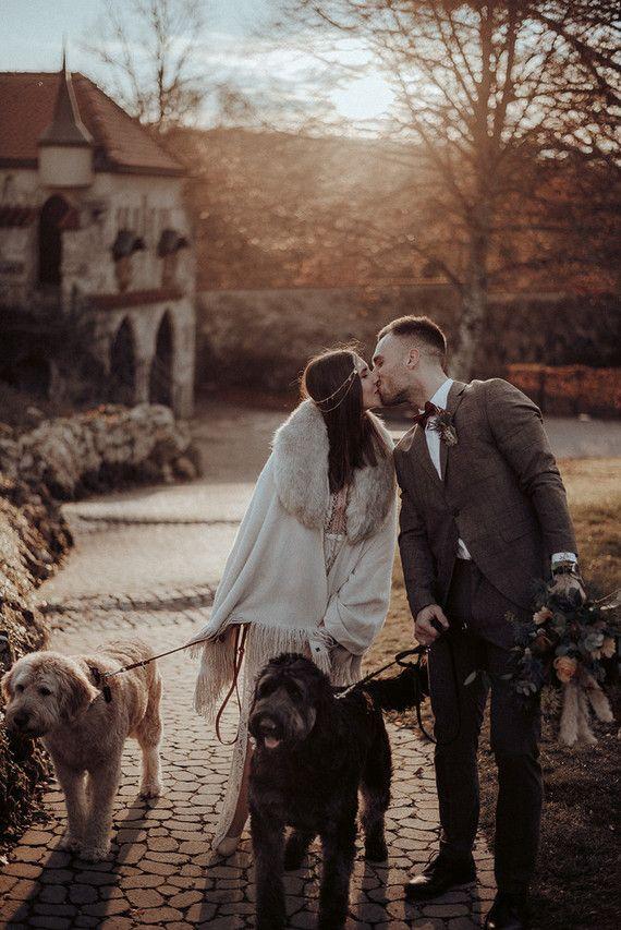 Bohemian Fall Elopement Inspiration Urban Wedding Venue Bride Photography Bridal Photographs