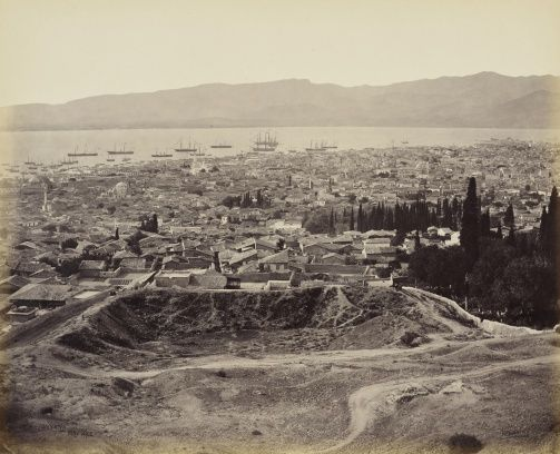The Royal Collection Trust - Smyrna/Izmir, Turkey and the town and harbour by Francis Bedford - 18 May 1862.