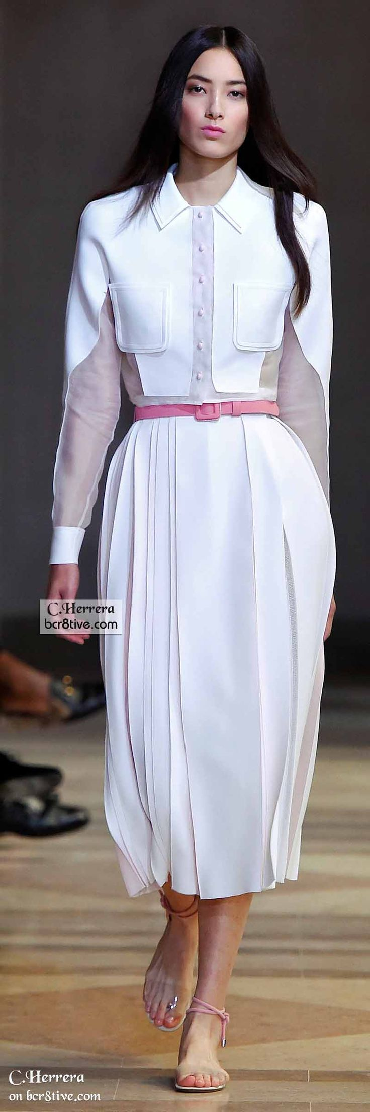 Carolina Herrera Spring 2016 women fashion outfit clothing style apparel @roressclothes closet ideas