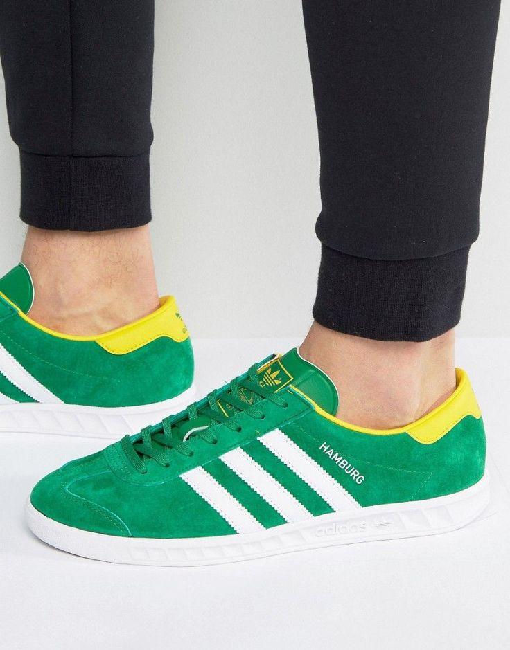 Get this Adidas Originals's sneakers now! Click for more details. Worldwide shipping. Adidas Originals Hamburg Trainers In Green BB5299 - Green: Trainers by adidas Originals, Supplier code: BB5299, Soft-touch suede upper, Smooth leather overlays, Lace-up fastening, Branded tongue and cuff, Signature three-stripe detail to sides, Chunky sole, Moulded tread, Treat with a leather protector, 100% Real Leather Upper. With a brand history stretching back over 60 years, adidas Originals draw…