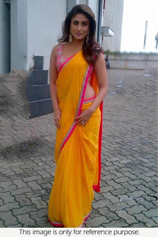 Bollywood celebrities have given a new dimension to the Indian Saree giving a whole new range of variety to shoppers. Saree worn by Bollywood celebrities have became the latest trend setters for style statement of Indian women. Indian ladies love to flaunt and look stunning in Saree just like Bollywood celebrities.Add glam to your persona with this striking Saree. -https://www.cooliyo.com/product/93134/georgette-saree-in-yellow-colour/