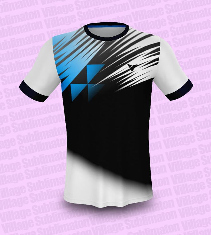 Download Hey Check this ! Black White Blue Badminton Jersey Design ...