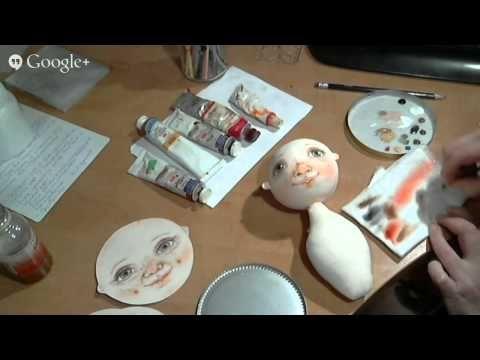 Мастер класс Юлии Наталевич по прорисовке лица куклы - YouTube