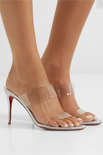 b1038ea766f Christian Louboutin just nothing 85 pvc and metallic leather mules.   christianlouboutin