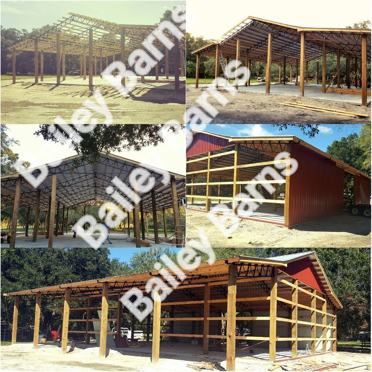 Steel Truss Pole Barn Southeast Installation Baileybarns Enclosures
