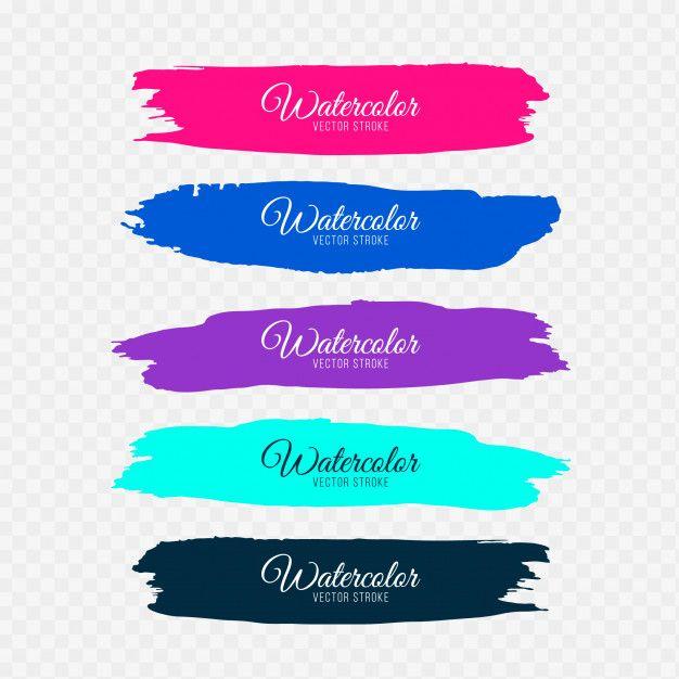 Set Of Pink Brush Stroke Badge Vectors Free Image By Rawpixel