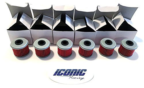 Honda TRX450R TRX450ER ( 04-14 ) Individually Boxed Oil Filter Filters Qty. 6:   6 oil filters designed to replace the oil filter for Honda 04-12 TRX450R / 06-14 TRX450ER