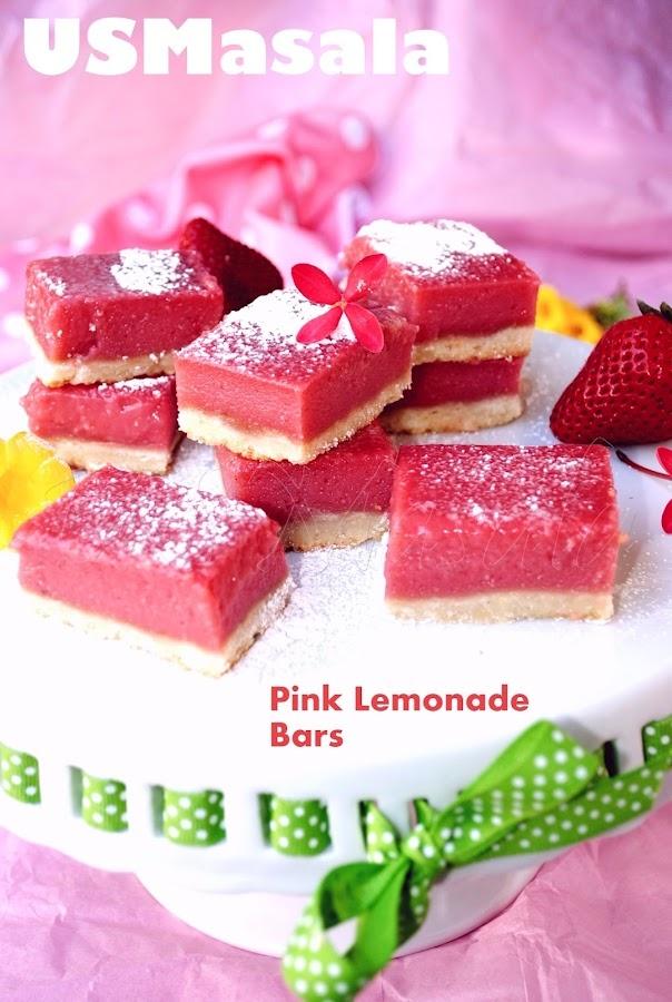 US Masala: Pink Lemonade Bar: Desserts Recipe, Lemonade Bar, Sweet, S'More Bar, Bar Recipe, Desserts Bar, Natural Color, Pink Lemondad, Pink Lemonade