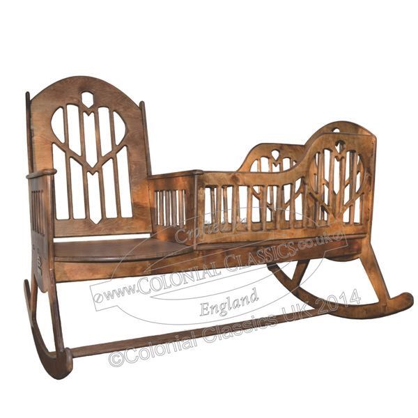 Nanny Rocker Wooden Rocking Chair Cradle In One By ColonialClassics