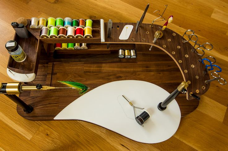 pictures of new custom fly tying station | vliegvissen | pinterest, Fly Fishing Bait