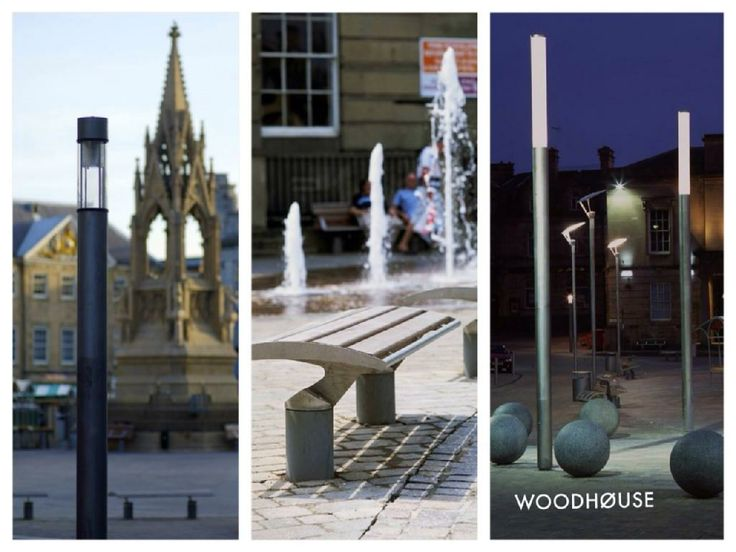 prisma architectural lighting uk. in a bid to create public space between the buildings, street furniture and lighting are prisma architectural uk