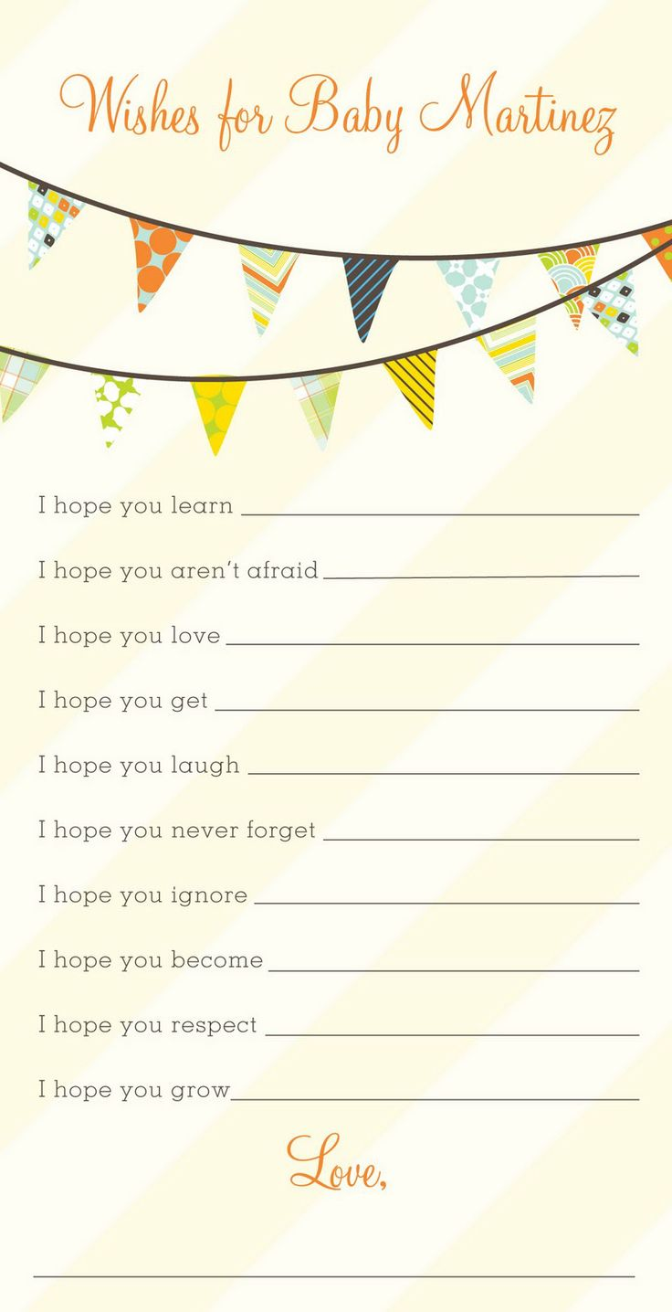 Wishes for baby template free along with designing the for Wishes for baby printable template
