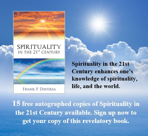 IWIC Book Giveaway: 15 autographed copies of Spirituality in the 21st Century by Frank P. Daversa.  http://www.writersinspiringchange.com/book-giveaways.html