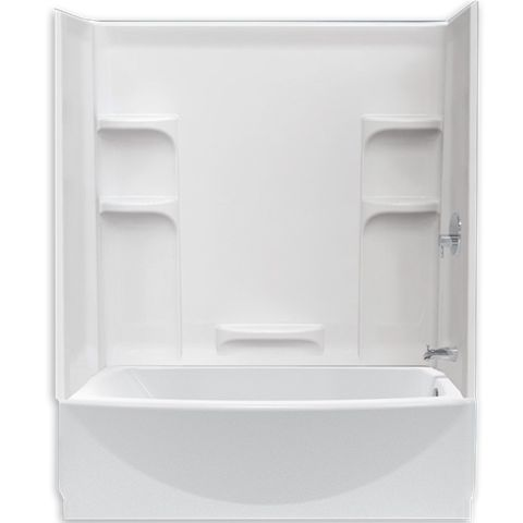 17 best images about 2 in 1 shower tub combo on pinterest for Standard shower tub combo dimensions