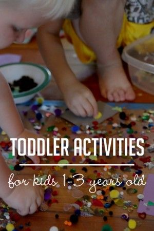 Lots of ideas for toddler activities!