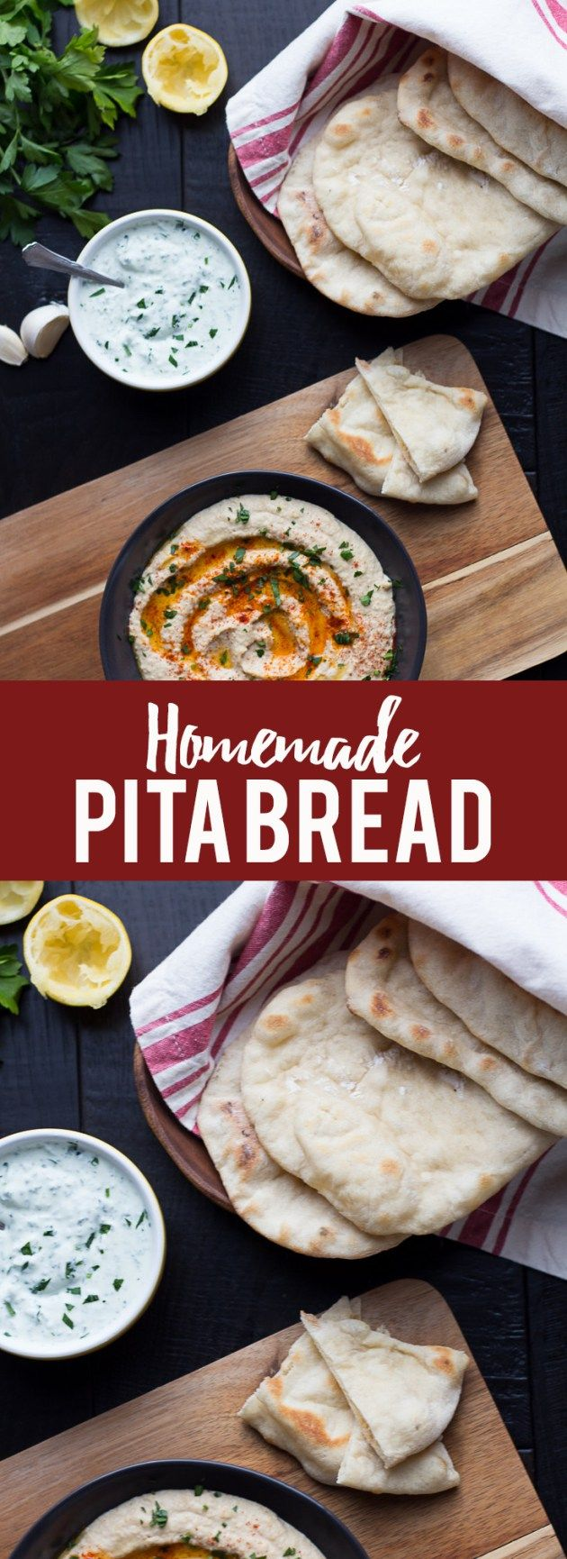 Homemade Pita Bread Long