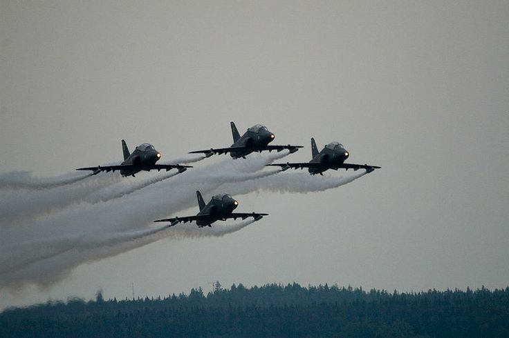 Midnight Hawks from The Air Force School in Kauhava, Finland.