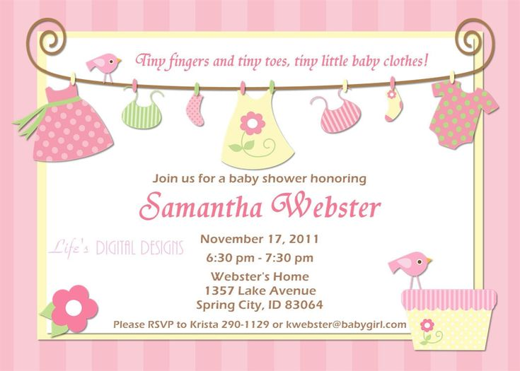 705 best Invitations Card by Nataliesinvitation images on - Free Baby Invitation Templates